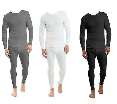 Full Set Mens Thermal Underwear Long Sleeve Vest Top & Long Johns New
