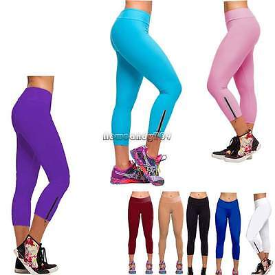 Women Sport Yoga Running Pants Fitness Gym Clothes High Waist Leggings Trousers