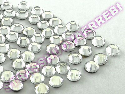 1000  Strass   Termoadesivi Qualita' Superiore  3  Mm ( Ss 10 ) Color Crystallo