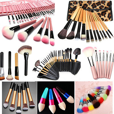 1/5/7/8/12/24/32PZ Professionale Pennelli Trucco Cosmetici Make Up Brush Set