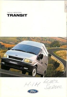 Ford Transit 2000 UK Market Sales Brochure Van Chassis Cab Double Cab