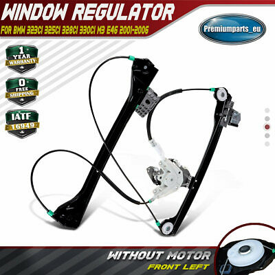 Electronic Window Regulator W/o Motor for BMW E46 Coupe Convertible Front Left