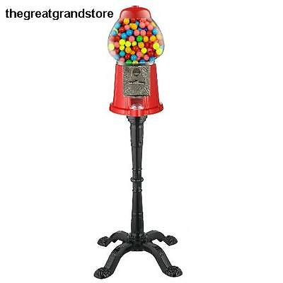 Vintage Bubble Gum Machine Candy Stand Gumball Dispenser Coin Operated Bank M&M