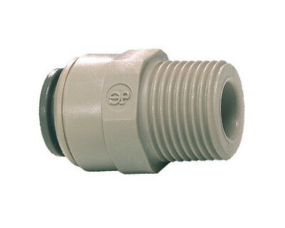John Guest Push FIt Straight Adaptor - Tube OD x BSPT Male Threaded