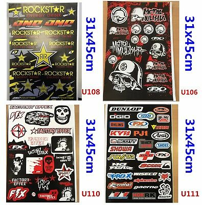 4x Sticker Decal Motorcycle Car Motorised Bike Dirt ATV Quad Motocross Caravan