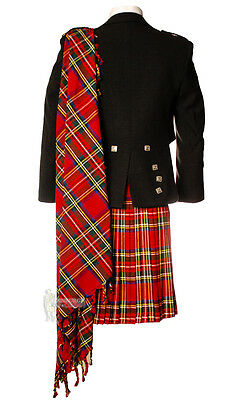 Deluxe Fly Plaid - Stewart Royal - Wear With Your Kilt Outfit!