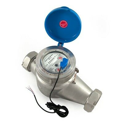 "1.5"" Stainless Steel Meter for Potable Water - can monitor via internet #51"
