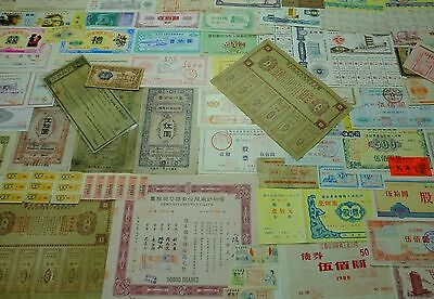COLLECTION LOT 100 DIFFERENT CHINESE Bond - Deposit - Stock - Share certificates