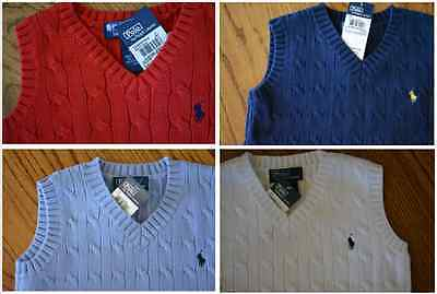 NEW RALPH LAUREN Polo Boys Sweater Vest MANY SIZES and COLORS NWT