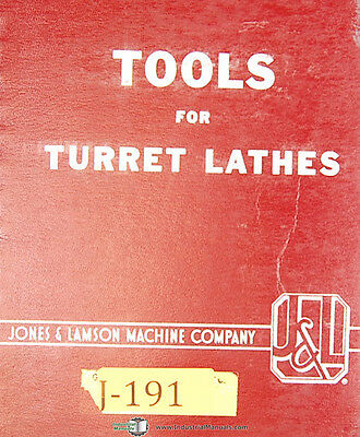 Jones & Lamson Tools for Turret Lathes, 103-A Manual