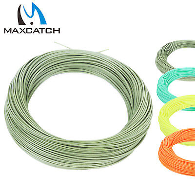 Floating Fly Line WF2/3/4/5/6/7/8F Fly Fishing 100' (Green/Yellow/orange/Teal)
