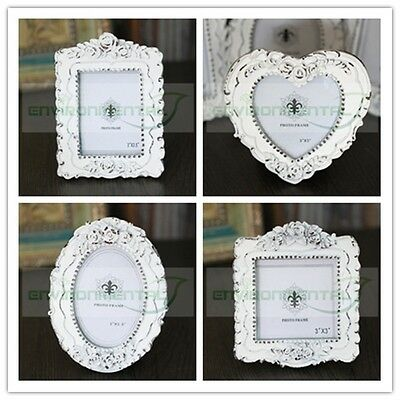 Square Oval Hearts Retro Vintage Fashion Classic Resin Photo Picture Frame Qty 1