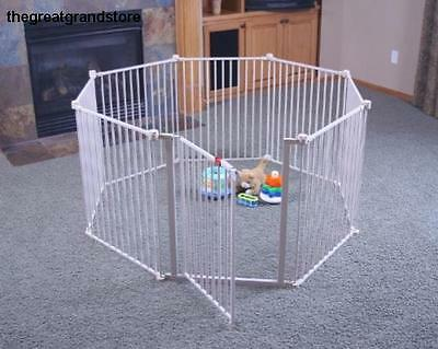 Large Metal Fireplace Fence Walk Through Gate Kids Play Safety for Pet Dog Child
