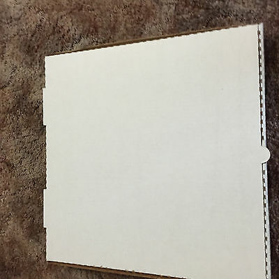 "Pizza Box  B-Flute Plain  2"" Deep  16""  White Exterior 50 PER PK"