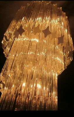 Four 1960'S Vintage  Camer Murano Venini  spiral chandeliers  87 - 93 crystals