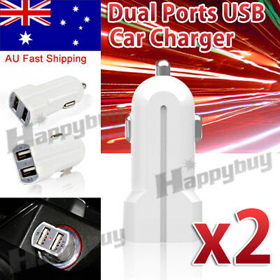 2x  Dual USB Car Charger Power Adapter Cigarette Lighter Socket / Plug / Connect
