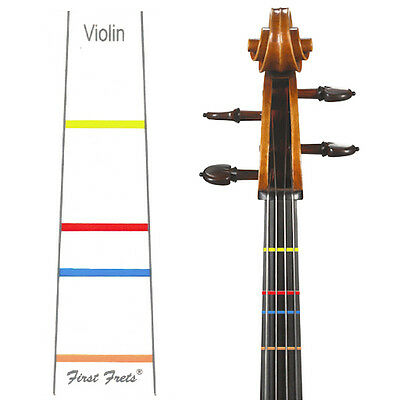 First Fret Violin 1/16 Size Fingerboard Tape Decal For Correct Finger Placement!