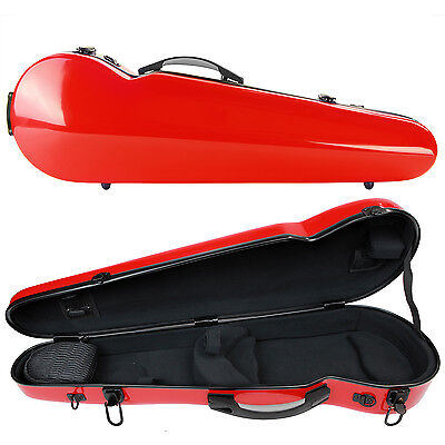 Kreisler Compact Fibreglass Violin Case Red
