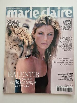 Revue magazine MARIE CLAIRE #756 aout 2015 cover Angela Lindvall