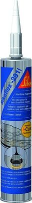 Mastic Pu Sikaflex Uv 291I-Cure Blanc 300 Ml Colle Marine Multi Usage Sika