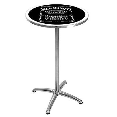 License Jack Daniels Bar Table for Man Cave Pool Room Best Gift Free Postage