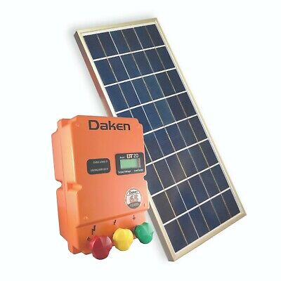 20km Solar Power Electric Fence Energiser Energizer 2.2 Joules Dakenag Farm