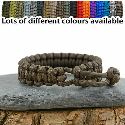 Mad Max Inspired Adjustable Paracord Survival Bracelet - Various Colours UK