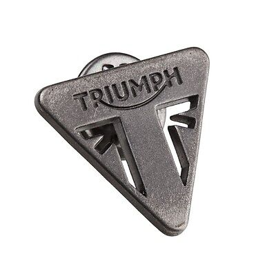 Genuine Triumph Motorcycles Pin Badge - Triangle Metal In Silver Great Gift Idea