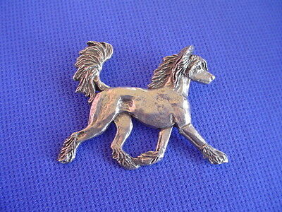 Chinese Crested pewter pin TROTTING #22A  Toy Dog Jewelry by Cindy A. Conter