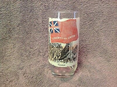 Vintage 1973 Coca Cola Liberty And Union Taunton Heritage Series Glass Tumbler