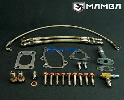 MAMBA Universal Turbo Oil Water Line Gasket Install Kit for Nissan S13 T25 T28