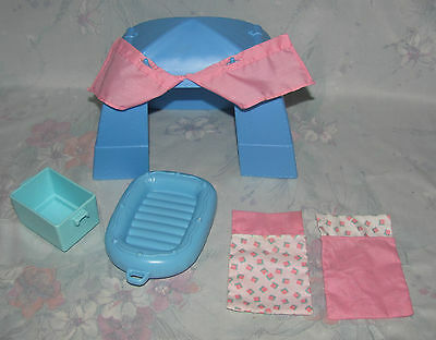 Fisher Price Loving Family Dollhouse Camping Outdoor Tent Backyard Sleeping Bags
