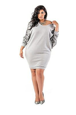 52f4be6f3b251 Poetic Justice Curvy Women s Plus Size French Terry Floral Printed Dolman  Dress