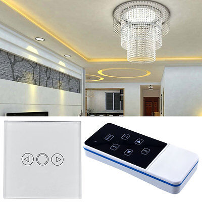 1 Gang Light LED Touch Dimmer Remote Control White Panel Wall Switch UK