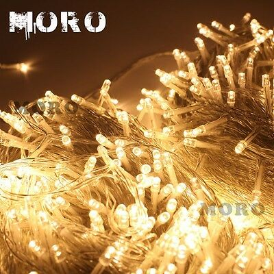 100M 500Led Warm White Fairy String Lights Christmas Tree Party Wedding Garden