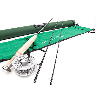 2WT Fly Rod And Reel Combo 6FT 3Section Medium Fast Fly Fishing Rod Small Stream