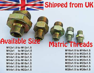 Metric male Air Water Steel Nipple Bush Reducer Hex Joiner Connector plumbing