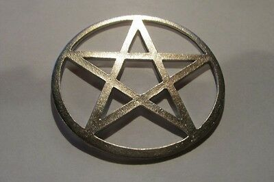 Three Inch Diameter Pewter Pentacle Pentagram