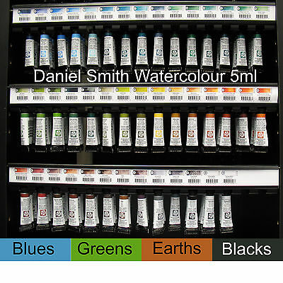 Daniel Smith extra fine artist watercolour 5ml - blues, greens, earths, blacks