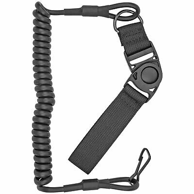 Pistol Lanyard, Black - Tactical Retention Sling Belt Hand Gun Handgun