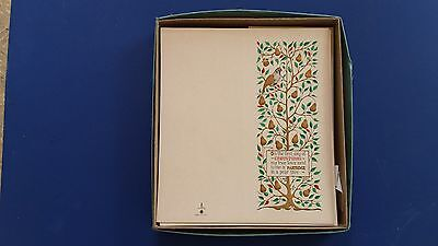 ORIGINAL VINTAGE 1950s BOXED CHRISTMAS CARDS RARE THICK PAPER GOLD