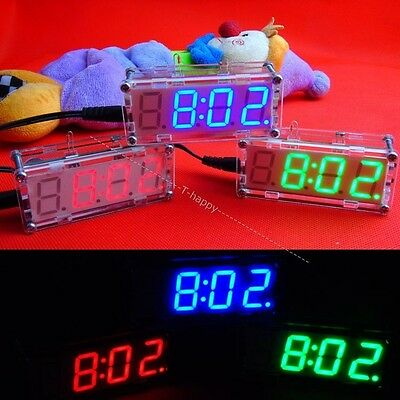 DIY kit LED electronic clock microcontroller LED digital watch time thermometer