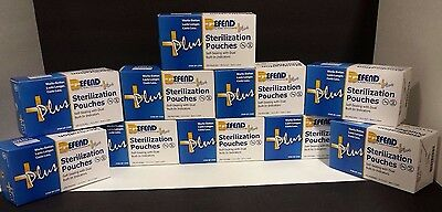 "Sterilization Pouches 3-1/2'' X 5-1/4"" (10 boxes)"