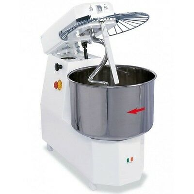 Spiral Dough Mixer 40 Liter / 38 Kgs Of Dough Made In Italy - With Lift Head
