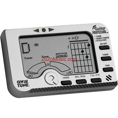 New Qwik Tune Gp-1 Guitar Professor 3-In-1 Tuner, Chord Finder And Pitch Pipe