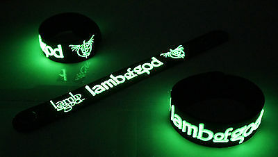 Lamb of God NEW! Glow in the Dark Rubber Bracelet Wristband Laid to Rest vg229