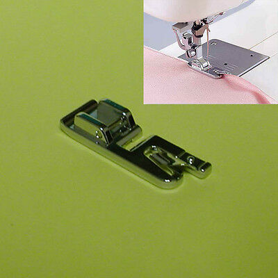 Hot 1Pcs Rolled Hem Foot For Brother Janome Singer Silver Bernet Sewing Machine