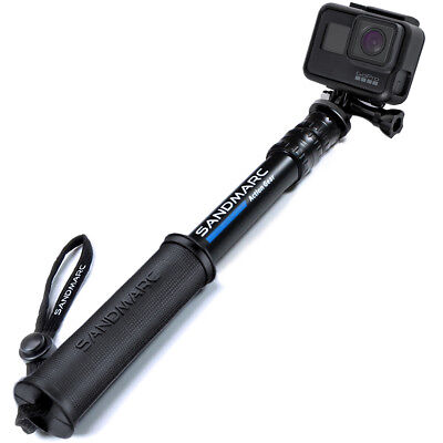 """SANDMARC® Pole - Compact Edition: 10-25"""" Telescoping Pole (Stick) for GoPro"""