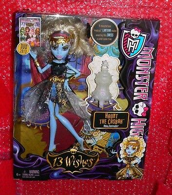 Monster High  Abbey Bominable 13 Wishes Haunt the Casbah doll  BBR94