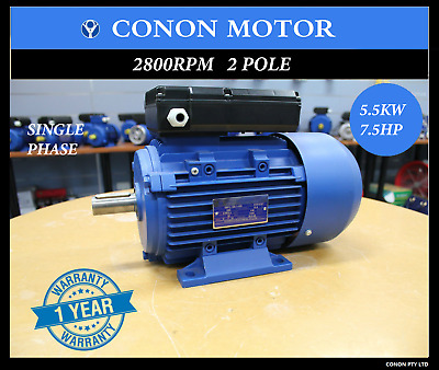 5.5kw 7HP  2800rpm shaft 38mm Electrical motor single-phase 240v